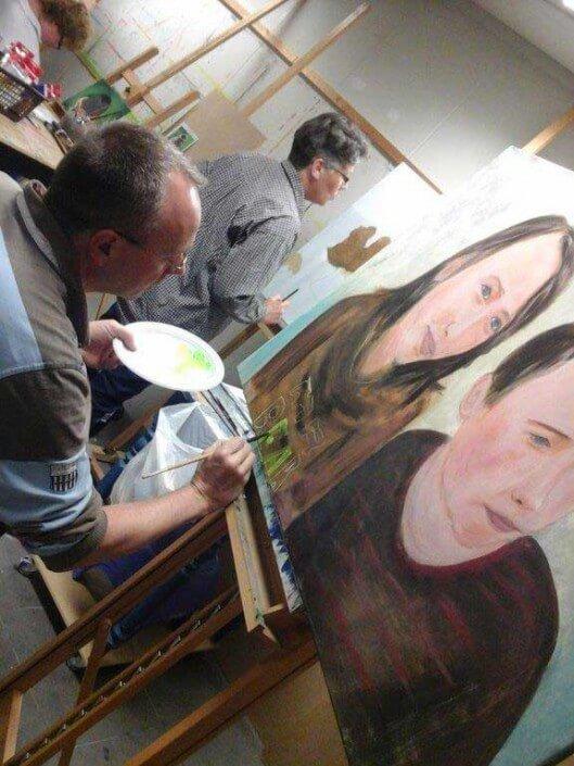 leren schilderen portret