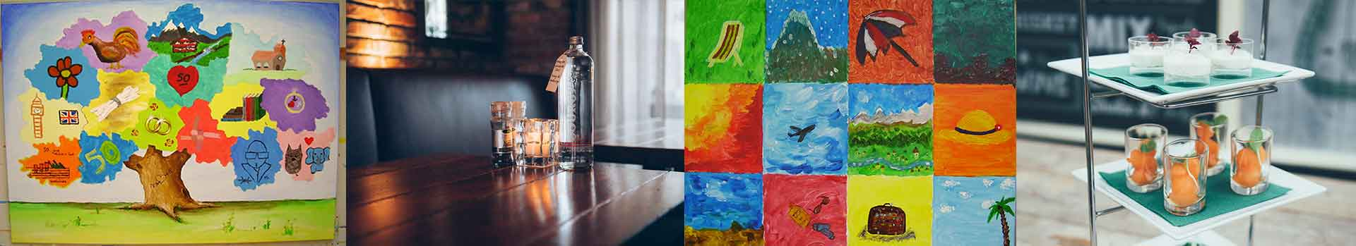 origineel uitje pub en painting