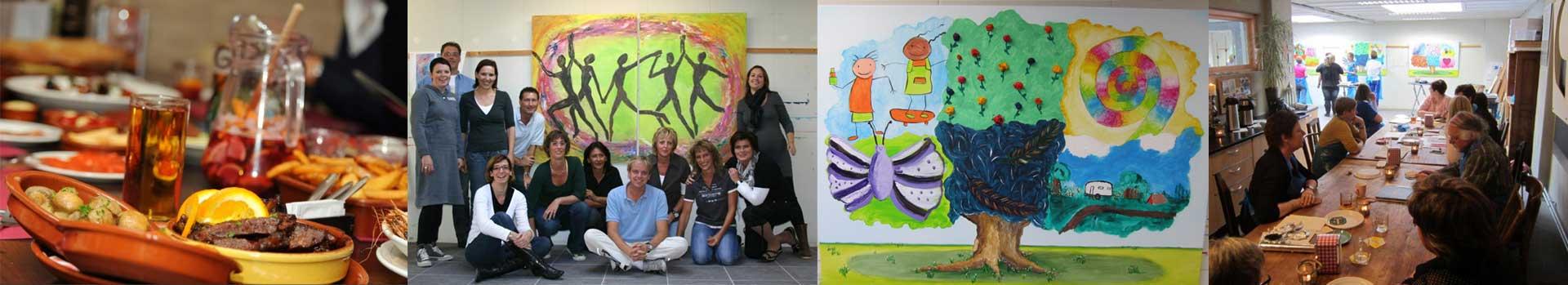 banner creatief teamuitje Tilburg-Breda