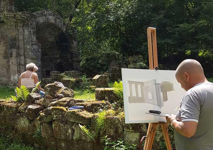 foto's schilderen in frankrijk